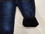 Полукомбинезон джинсовый на флисе для мальчика р.80 ТМ Бемби, фото 3