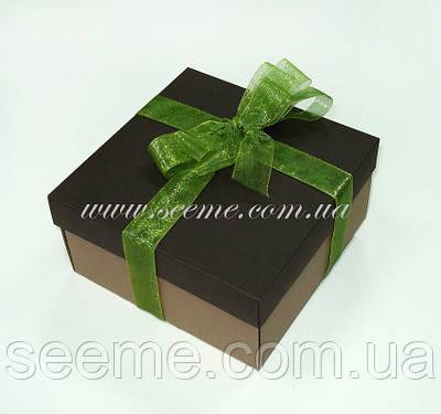 Коробка подарункова, 140х140х70 мм.