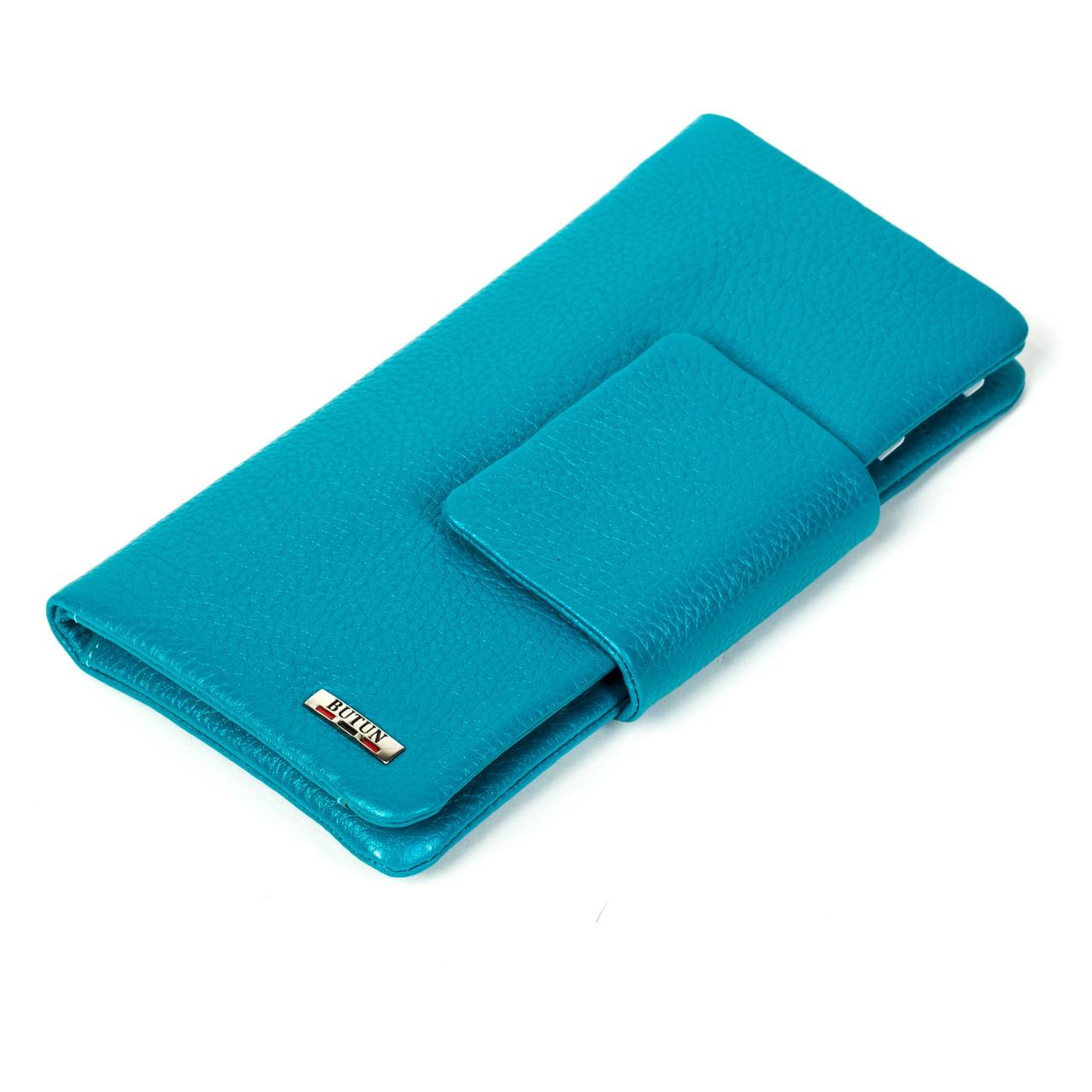 Женский кошелек клатч Butun 638-004-050 кожаный бирюзовый