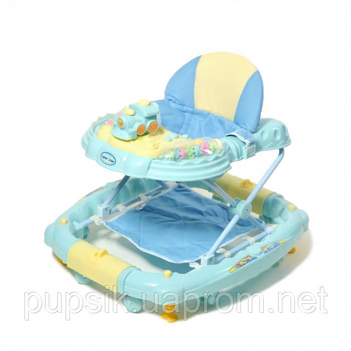 Ходунки детские TILLY 6222SY Blue с качалкой