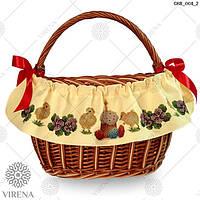Лента под вышивку на пасхальную корзину ТМ Virena СКВ-001-2