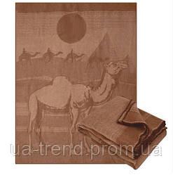 Ковдра з верблюжої вовни велике з принтом 170х205