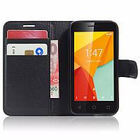 Чехол-книжка Litchie Wallet для Vodafone Smart Mini 7 Черный