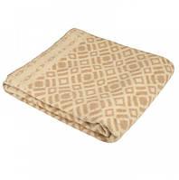 Одеяло из шерсти 140х205 бежевое