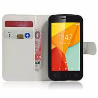 Чехол книжка для Vodafone Smart Mini 7 Белый