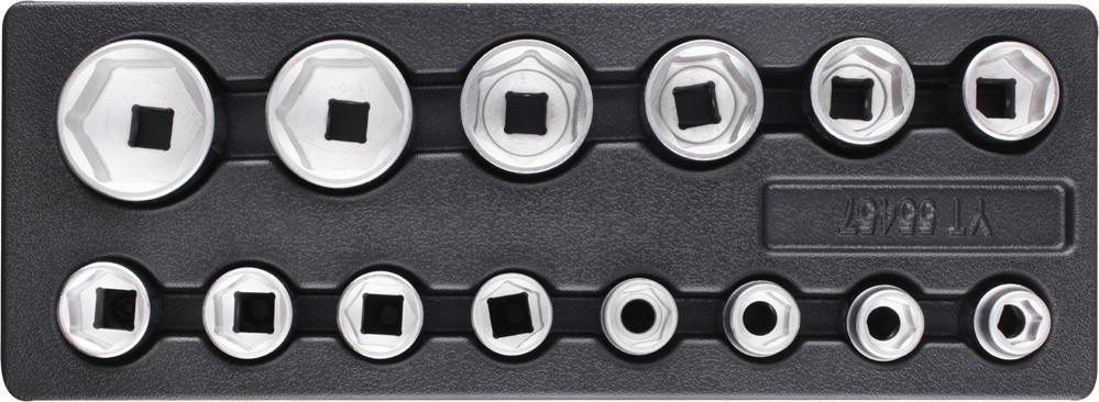 Набор торцевых ключей 14 шт YATO YT-55457