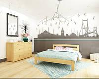Деревянная буковая кровать  Студент 140*200, магазин МК