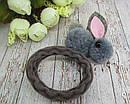 Резинки для волос Зайчики из шерстяных помпонов 12 шт/уп., фото 6