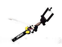 Детский монопод с проводом и кнопкой на ручке, селфи палка (СКЛАД 10 шт)
