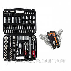 """Набор инструментов 1/4"""", 1/2"""", 108 предметов (6 гр.) Marshal MT-4108+набор ключей 51-710"""