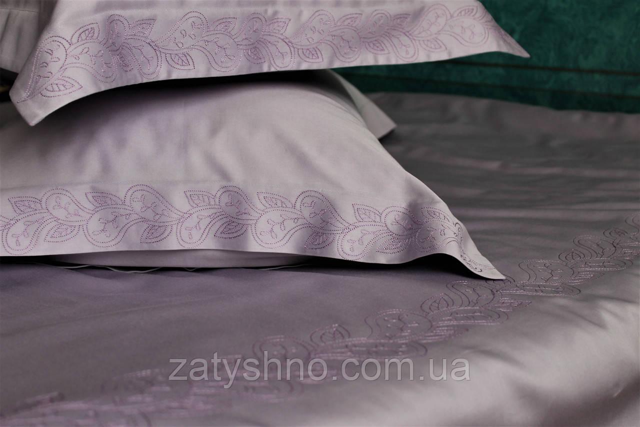 Постільна білизна сатин Лаванда з вишивкою