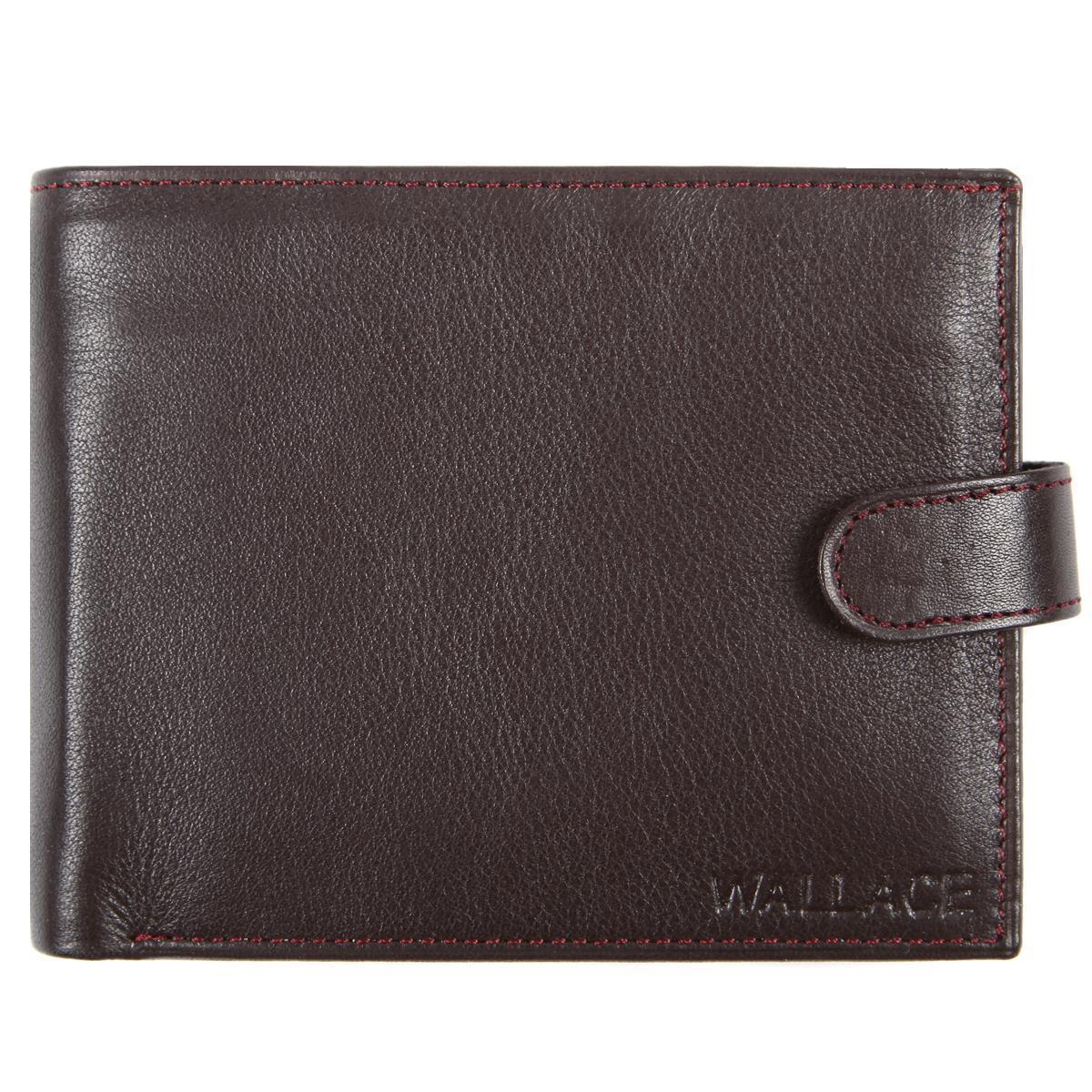 Мужское портмоне кожаное WALLACE 120х95х20 тр401кор