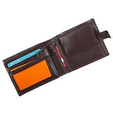 Мужское портмоне кожаное WALLACE 120х95х20 тр401кор, фото 3