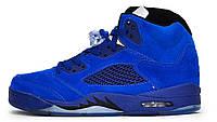 Мужские кроссовки Nike Air Jordan 5 Retro Blue (найк аир джордан 5, синие)