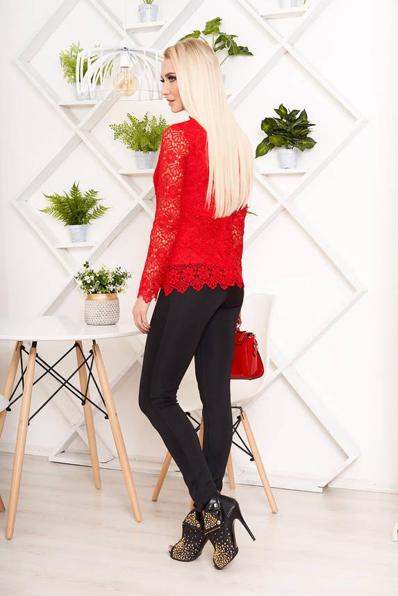 Красивая блузка гипюровая красная, фото 2