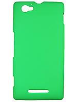 Пластиковый чехол для Sony Xperia M c1905 c2005 Зеленый