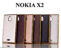 Чехол Chrome Gold для Nokia X2