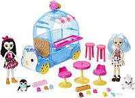 Игровой набор EnchantimalsФургончикмороженного и 2 куклы Прина Пингвина и Полярный медведь Лайла
