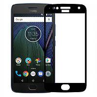3D защитное стекло Motorola Moto E4 XT1762 (на весь экран) Черный