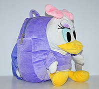 Сиреневый детский рюкзак-игрушка Утка Понка.