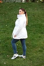 Удлиненная зимняя куртка синтепон 200 Батал 48-52 рр.ЧЕРНЫЙ, фото 3