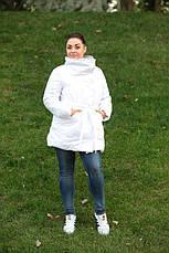 Удлиненная зимняя куртка синтепон 200 Батал 48-52 рр.ЧЕРНЫЙ, фото 2