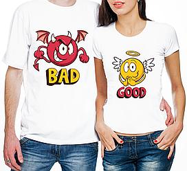 """Парные футболки """"Bad/Good"""" (частичная, или полная предоплата)"""