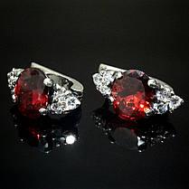 Серебряные серьги с фианитами, 14 камней, фото 3