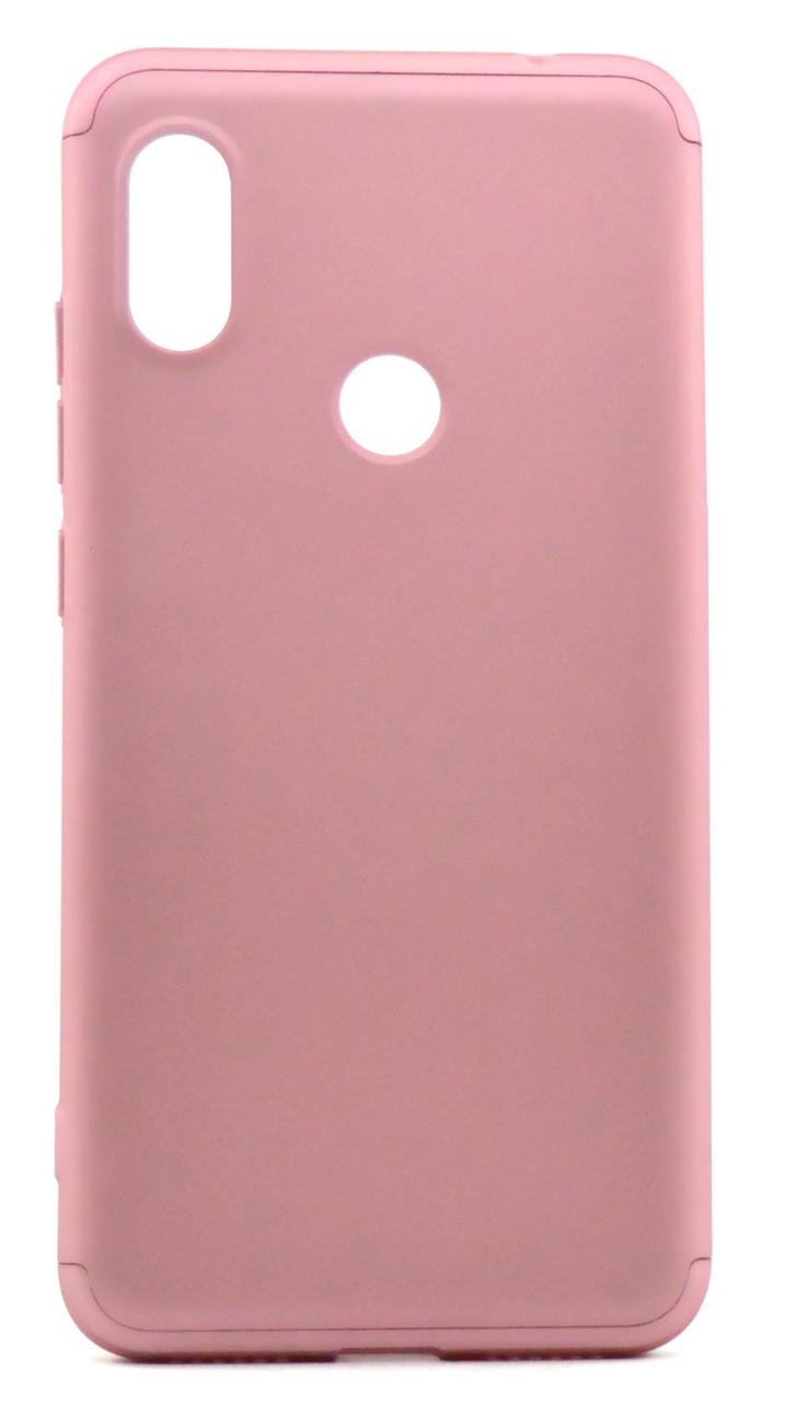 Чохол-360° GKK LikGus для Xiaomi Redmi Note 6 PRO Пластик Рожевий
