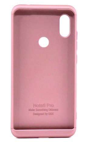 Чохол-360° GKK LikGus для Xiaomi Redmi Note 6 PRO Пластик Рожевий, фото 2