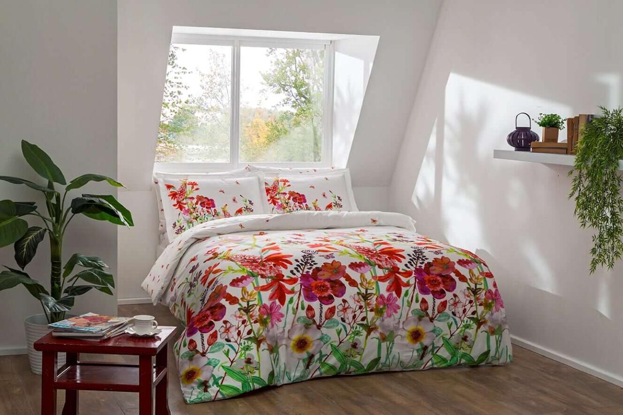 Комплект постельного белья из натурального сатина DIGITAL ROSABEL