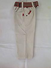 Белые брюки для мальчиков 92,98,104,110,116 роста, фото 3