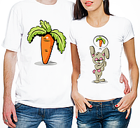 """Парные футболки """"Зайчиха И Морковка"""" (частичная, или полная предоплата)"""