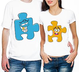 """Парные футболки """"Пазлы"""" (частичная, или полная предоплата)"""