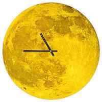 Настенные часы Луна (дерево) оригинальный подарок прикольный