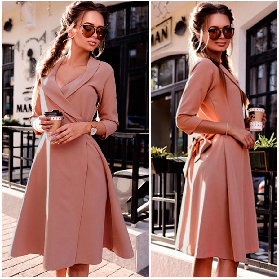 Платье-халат цвета мокко Alina (Код MF-401)