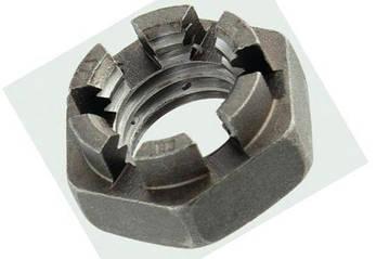 Гайка корончатая М52 низкая DIN 937 оцинкованная (ГОСТ 5919-73), фото 2