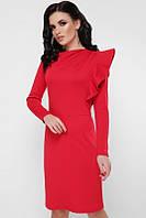 Коктейльное женское платье с пышной рюшей (3 цвета), фото 1