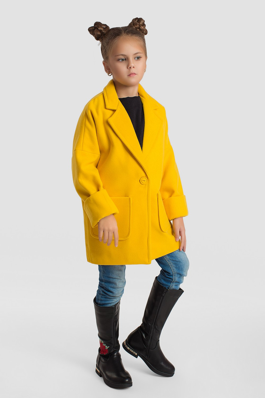 Пальто LiLove 5-136 116-122 желтый