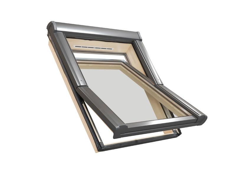 Мансардне вікно ROTO Designo R4 WDF R45 H дерев'яне Мансардное окно Рото 4 серии с центральной осью поворота