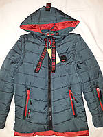 7ca82516f1d Куртка-парка детская демисезонная для мальчиков с отстежными рукавами М 14
