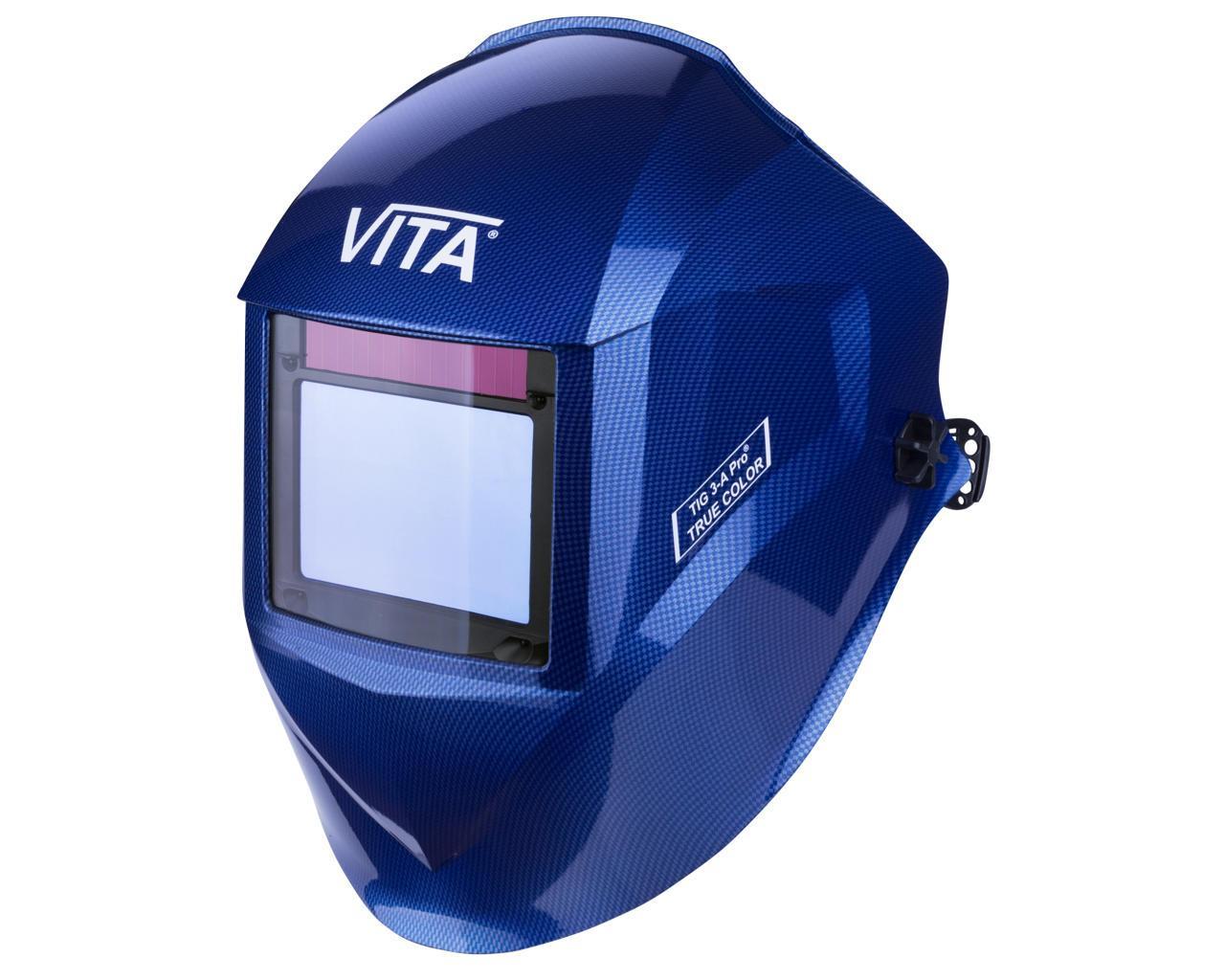 Сварочная маска хамелеон 3-A Pro TrueColor (цвет металлические соты синие)