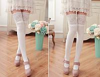 7743d4dd8 Красивые, стильные, нарядные, молодежные, женские чулки-гетры с носком, выше
