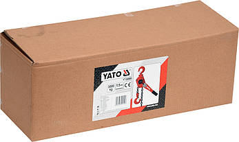 Таль ручна ланцюгова 3 тонни важільна YATO YT-58966, фото 2
