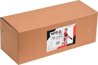 Ланцюгова таль ручна важільна 6 тонн YATO YT-58967, фото 2