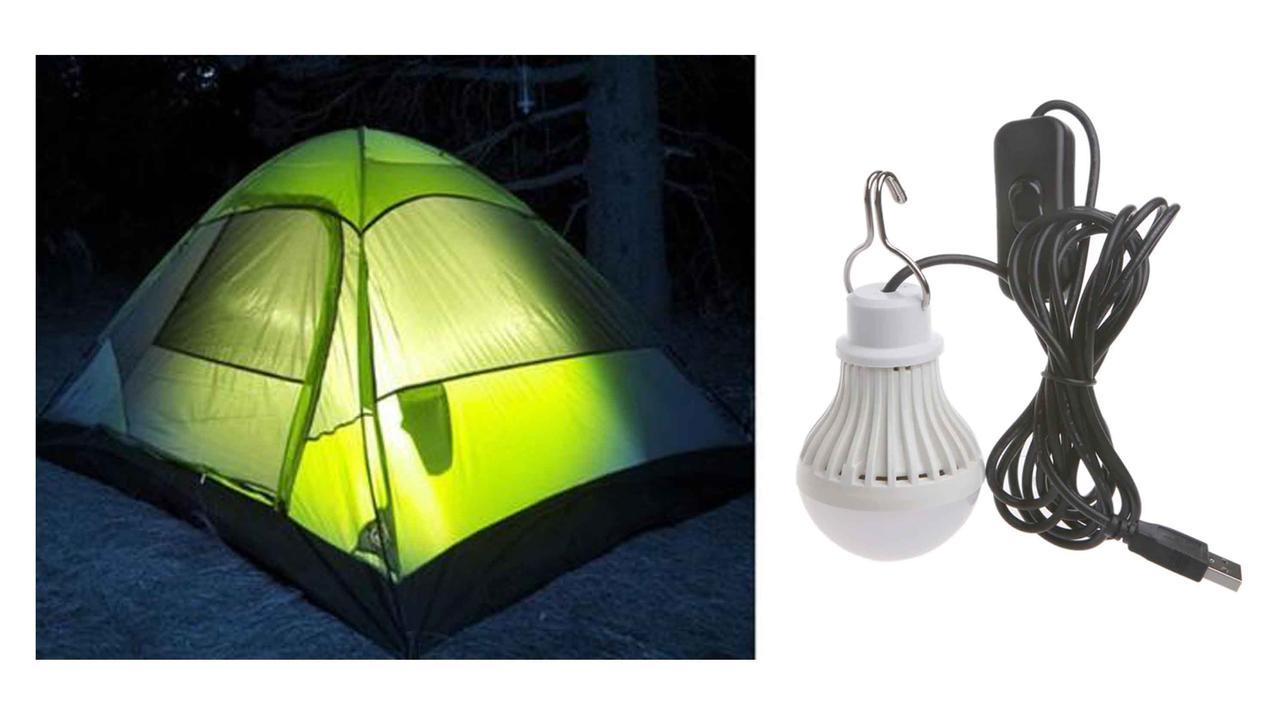 Светодиодная лампа 5 Ватт 5 Вольт  с удлинителем, выключателем и USB коннектором
