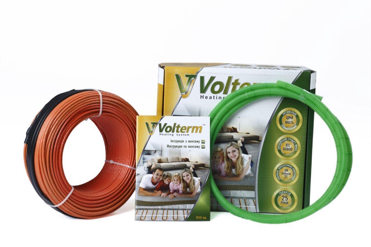 Тонкий нагревательный кабель Volterm (Украина) HR12 1400 Теплый электрический пол