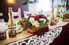 Деревянная ширма, ретро стиль в бордовом цвете