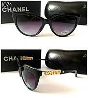 Женские солнцезащитные очки Chanel черные d939d673b387e