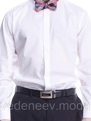 Рубашка  под бабочку 80 % хлопка